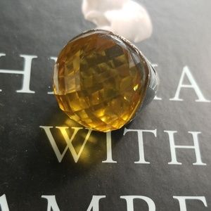 Fancy yellow cocktail ring